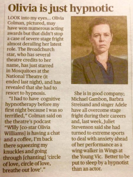 Hypnotherapy to Overcome Stage Fright