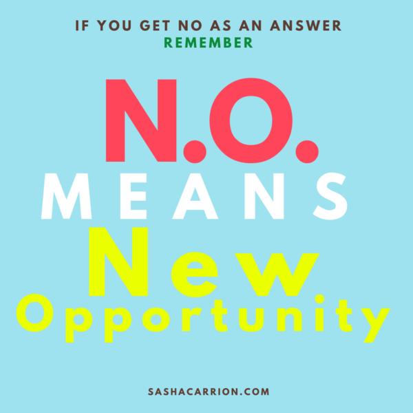 Don't take No as an answer