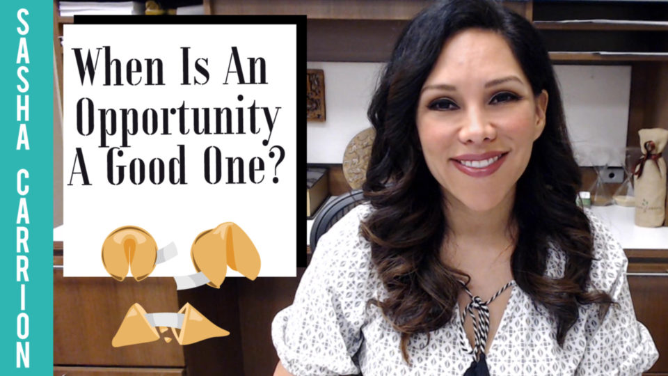 When Is An Opportunity A Good Opportunity?
